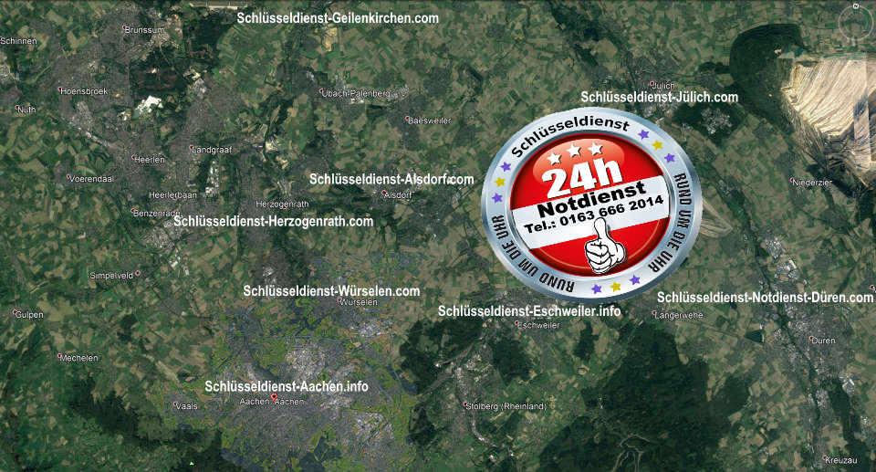Notdienst Gebiet vom Monteur Karl - In diesem Gebiet ist er tätig und öffnet jede Türe zum 50 Euro Festpreis