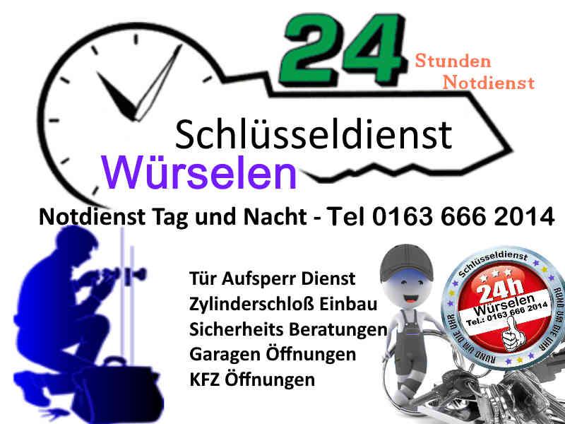 Schlüsseldienst Würselen mit Festpreis auch für Aachen